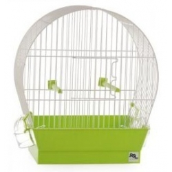 Arcuately bird cage with...