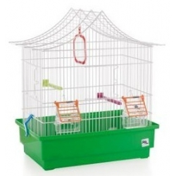 Bird cage with chalet roof...