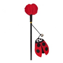 Cane with ladybug and bell...