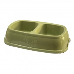 Square double bowl S green